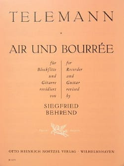 Air et Bourrée - Blockflöte Gitarre - TELEMANN - laflutedepan.com