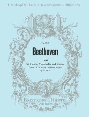 BEETHOVEN - Klaviertrio op. 70 n° 2 Es-Dur -Stimmen - Partition - di-arezzo.fr