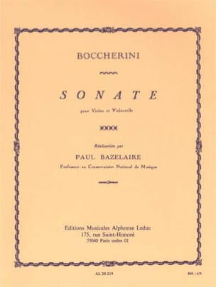 Sonate BOCCHERINI Partition 0 - laflutedepan