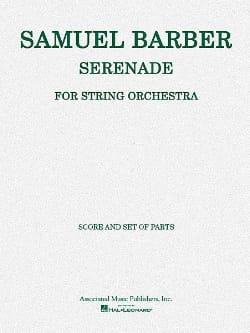 Samuel Barber - Sérénade (Score & Parts), Op. 1 - Partition - di-arezzo.fr