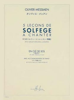 Olivier Messiaen - 5 Solfege lessons to sing - Sheet Music - di-arezzo.com