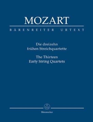 Wolfgang Amadeus Mozart - les 13 premiers quatuors à cordes - Conducteur - Partition - di-arezzo.fr