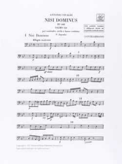 VIVALDI - Nisi Dominus Salmo 126 RV 608 - Sheet Music - di-arezzo.co.uk