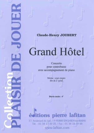 Claude-Henry Joubert - Grand Hotel - Sheet Music - di-arezzo.com