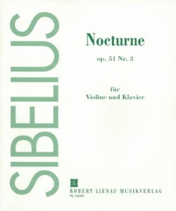 Jean Sibelius - Nocturne op. 51 n° 3 - Partition - di-arezzo.fr