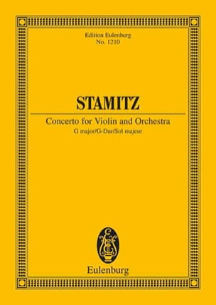 Carl Stamitz - Violinkonzert G-Dur - Partition - di-arezzo.fr