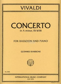 VIVALDI - Concerto In A Minor Rv 498 F. 8 N ° 2 - Sheet Music - di-arezzo.com