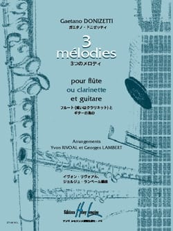 Gaetano Donizetti - 3 Mélodies - Partition - di-arezzo.fr