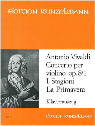 Antonio Vivaldi - Concerto op. 8 n° 1 - La primavera - Partition - di-arezzo.fr