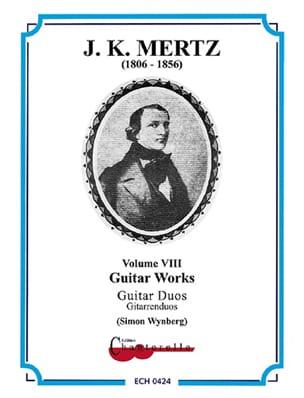 Johann Kaspar Mertz - Guitar Works Vol.8 - Guitar Duos - Partition - di-arezzo.fr