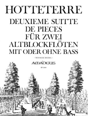 Jacques (Le romain) Hotteterre - Second Suite of Rooms Op. 6 - 2 Fl. A Alto Beak - Sheet Music - di-arezzo.co.uk