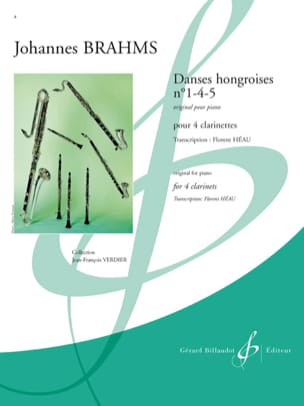 BRAHMS - Hungarian Dance No. 1-4-5 - Sheet Music - di-arezzo.co.uk