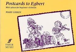 Postcards To Egbert - Mary Cohen - Partition - laflutedepan.com