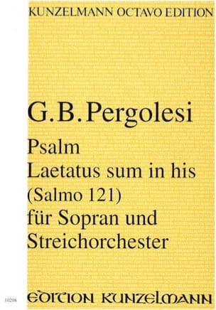 Giovanni Battista Pergolesi - Psalm 121 - Laetatus sum in his - Partitur - Sheet Music - di-arezzo.com