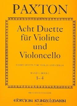 Stephen Paxton - 8 Duette für Violine und Violoncello – Bd.1 (1-4) - Partition - di-arezzo.fr