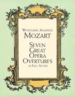 MOZART - Seven Great Opera Overtures - Full Score - Sheet Music - di-arezzo.co.uk