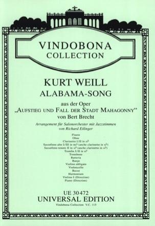 Alabama Song - Matériel Complet - WEILL - Partition - laflutedepan.com