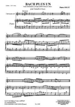 Bach Plus Un - Pierre Bigot - Partition - laflutedepan.com