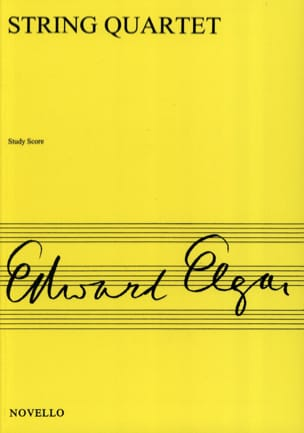 Edward Elgar - String quartet op. 83 - Score - Partition - di-arezzo.fr