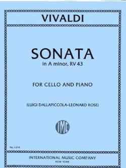 Antonio Vivaldi - Sonate en la mineur, RV 43 - Partition - di-arezzo.fr