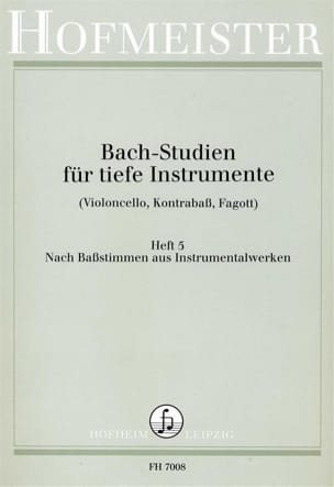 BACH - Bach Studien für tiefe Instr. - Heft 5 - Sheet Music - di-arezzo.co.uk