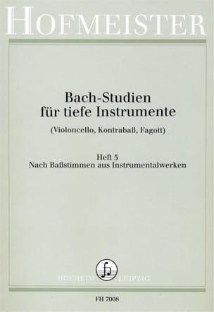 BACH - Bach Studien für tiefe Instr. - Heft 5 - Partition - di-arezzo.fr