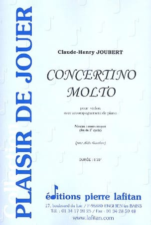 Concertino Molto Claude-Henry Joubert Partition Violon - laflutedepan