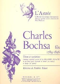Charles Bochsa - Thème et variations - Partition - di-arezzo.fr