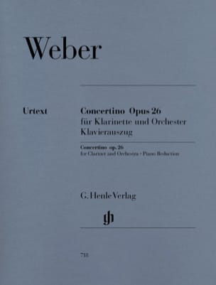 Carl Maria von Weber - Concertino op. 26 for clarinet and orchestra - Sheet Music - di-arezzo.co.uk