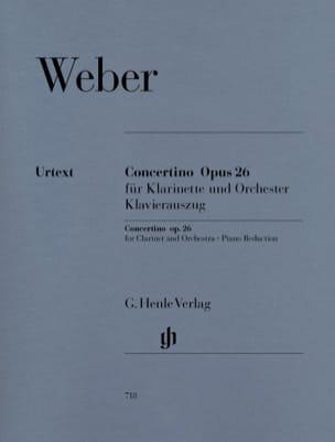 Carl Maria von Weber - Concertino op. 26 pour clarinette et orchestre - Partition - di-arezzo.fr