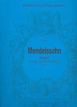 MENDELSSOHN - Konzert for Violin and Klavier d-moll - Partitur - Sheet Music - di-arezzo.com