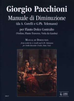 Giorgio Pacchioni - Manuale di diminuzione - Partition - di-arezzo.fr