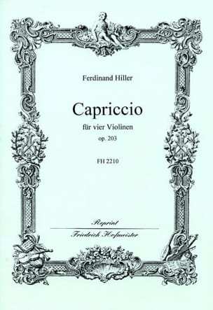 Capriccio op. 203 - Ferdinand Hiller - Partition - laflutedepan.com