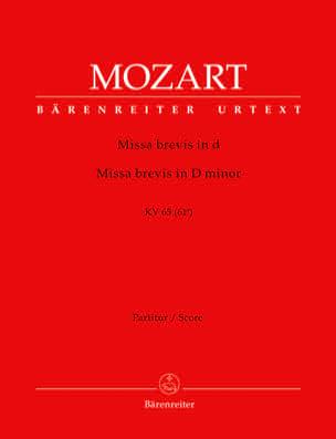 MOZART - Missa Brevis d-Moll KV 65 - Partitur - Partition - di-arezzo.fr