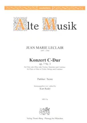 Jean-Marie Leclair - Concerto en ut maj. op. 7 n° 3 – Conducteur - Partition - di-arezzo.fr