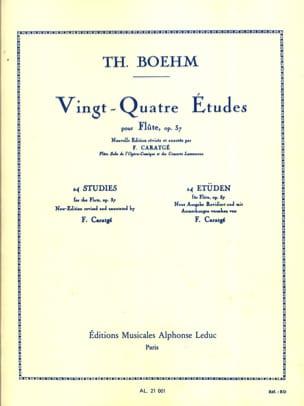 Boehm Theobald / Caratgé F. - 24 Etudes op. 37 - Partition - di-arezzo.fr