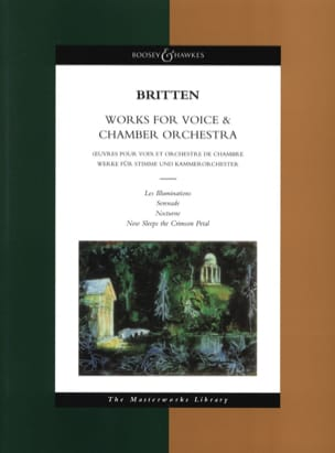 Benjamin Britten - Works for voice - chamber orchestra - Sheet Music - di-arezzo.co.uk