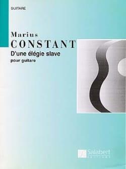 Marius Constant - D'une élégie slave ... - Partition - di-arezzo.fr