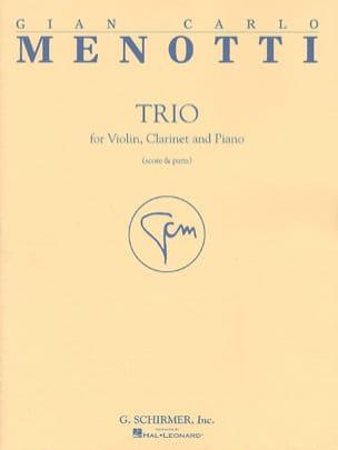 Gian Carlo Menotti - Trio -Violon, clarinette et piano - Partition - di-arezzo.fr