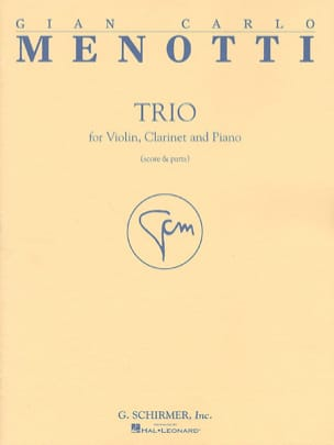 Gian Carlo Menotti - トリオ - ヴァイオリン、クラリネットとピアノ - 楽譜 - di-arezzo.jp