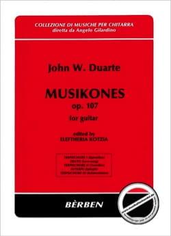 Musikones op. 107 John W. Duarte Partition Guitare - laflutedepan