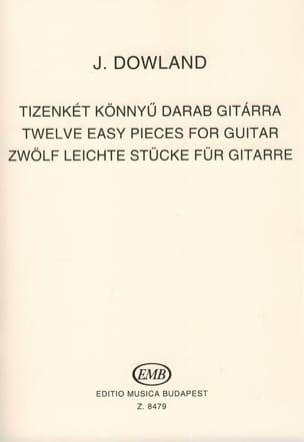 John Dowland - 12 leichte Stücke für Gitarre - Partition - di-arezzo.fr