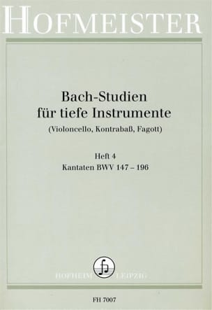 BACH - Bach Studien für tiefe Instr. - Heft 4 - Sheet Music - di-arezzo.co.uk