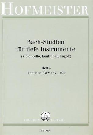 BACH - Bach Studien für tiefe Instr. - Heft 4 - Partition - di-arezzo.fr