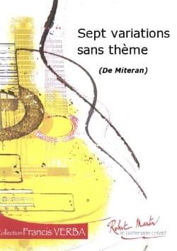 7 Variations sans thèmes Alain Miteran Partition laflutedepan