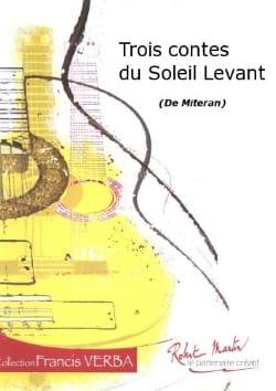 3 Contes du soleil levant Alain Mitéran Partition laflutedepan