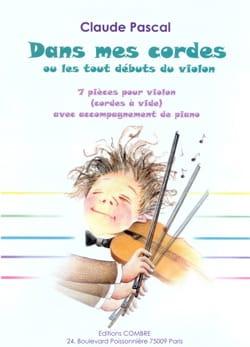 Claude Pascal - Dans mes cordes - Partition - di-arezzo.fr