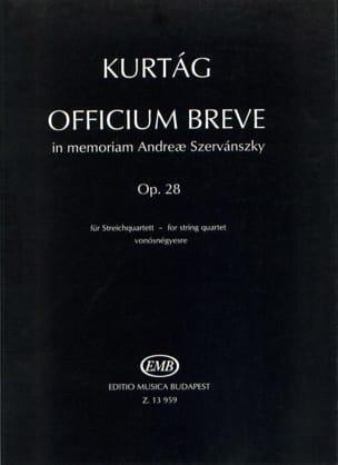 Officium breve op. 28 - Spielpartitur - laflutedepan.com