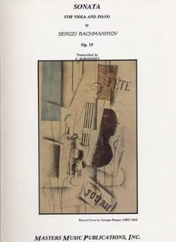 Sergei Rachmaninov - Sonate op. 19 - Alto - Partition - di-arezzo.fr
