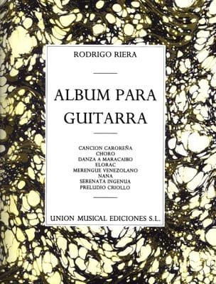 Album para Guitarra - Rodrigo Riera - Partition - laflutedepan.com